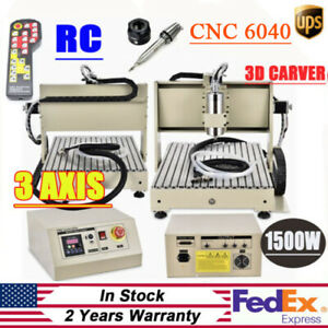 3 Axis 6040t Cnc Router Engraving Milling Machine 1 5kw Spindle Vfd controller