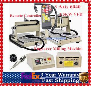 3axis 1 5kw Cnc 6040 Router Engraver Wood Drill milling Machine Handwheel