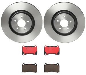 Brembo Front Brake Kit Pvt Coated Disc Rotors Ceramic Pads For Ford Mustang Gt