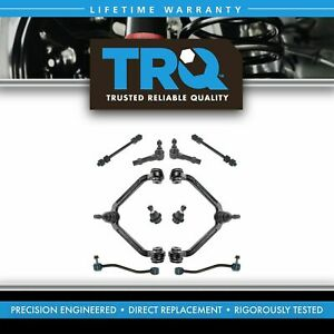 Trq 10 Pc Steering Suspension Kit Control Arms Ball Joints Sway Bar End Links