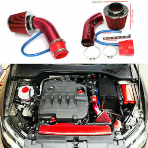 3in Car Cold Air Intake Filter Alumimum Induction Kit Pipe Hose System Set P