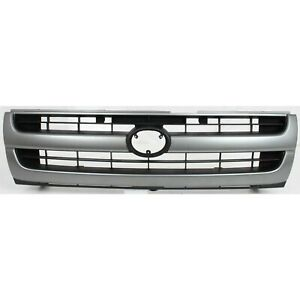 Grille For 97 2000 Toyota Tacoma Silver Shell W Black Insert Plastic