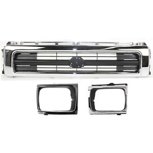 Bundle For 92 95 Toyota Pickup 4wd Sealed Beam Type Grille Headlight Door 3pc
