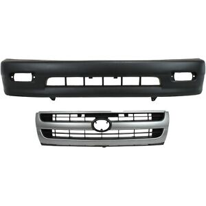 Bumper Cover Kit For 98 2000 Toyota Tacoma Front 2pc With Grille
