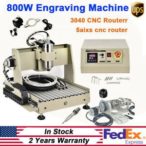 Cnc 3040 Router Milling Engraving Machine 5axis Wood Metal Carving Vfd 800w