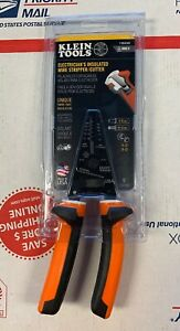 new Klein Tools Electrician s Insulated Wire Stripper cutter 11054eins