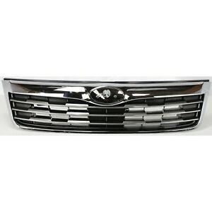 Grille For 2009 2010 Subaru Forester Silver Plastic