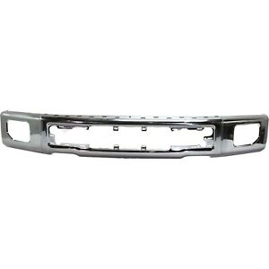 Front Bumper Face Bar Chrome With Fog Lamp Holes For 2015 2017 Ford F 150