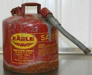 Eagle U2 51 s Red With 7 8 O d Flex Spout Metal Safety Gas Can