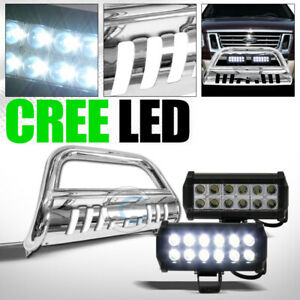 Fit 06 10 Ford Explorer Sport Trac Chrome Bull Bar Guard Frc 36w Cree Led Lights
