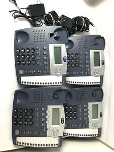 Lot Of 4 At t 945 4 line Small Business System Office Phones Base Only