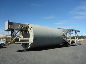 170 Ton Portable Concrete Silo W Stand Conveyor stock 2586