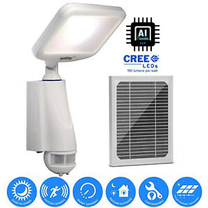 New Solar Powered Led Motion Sensor Security Light Dusk To Dawn 800lm Smart Lamp