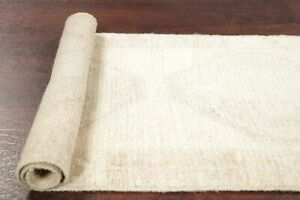 Vintage Washed Out Color Muted Oushak Turkish Oriental Runner Rug 3 4 X 1 5