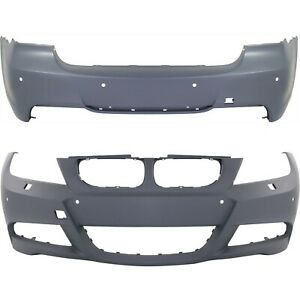 Front Rear Bumper Cover Set For 2007 2011 Bmw 328i 3 0l Sedan W M Pkg Primed