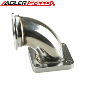 Adler Speed 2 5 V band T4 Cnc Ss Turbo Exhaust 90 Degree Elbow Adapter Flange