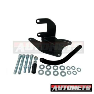 Small Block Chevy Alternator Upward High Mounting Bracket Short Water Pump Black
