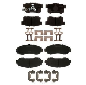 Front And Rear Ceramic Brake Pad Sets Kit Acdelco For Acura Rdx 2010 2012 Fwd