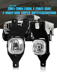 Fog Lights For Ford F 250 350 450 550 Super Duty Excursion Driving Lamps Clear