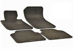 Set Of 4 Black Rubber All Weather Floor Mats Oe Fit For Bmw E90 E91 323i 330i M3