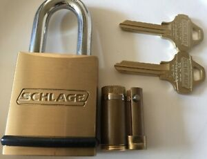 Schlage Padlock With Everest Primus Full Size Removable Core Cylinder fsic