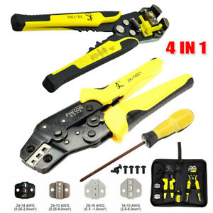 4 In 1 Wire Crimpers Self adjusting Cable Striper Terminal Crimping Pliers Tool