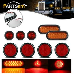 Led Lights Package 4x4 Round 2x6 Oval Stop Turn Tail Light 2 Fender Marker