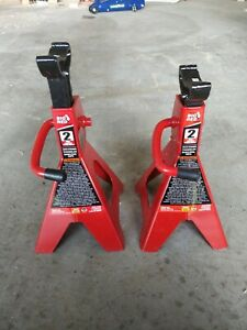 Torin Big Red Steel Jack Stands 2 Ton Capacity 1 Pair Barely Used