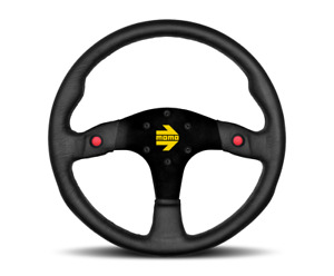 Momo Steering Wheel Mod 80 Black Leather 350mm us Dealer