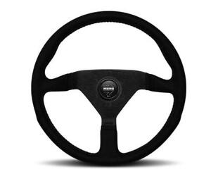 Momo Monte Carlo Alcantara Steering Wheel 350mm Black Stitching For Porsche
