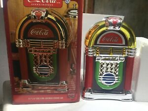 Coca-Cola Rock'n Roll JukeBox Shaped Cookie Jar By Gibson Brand New In Box