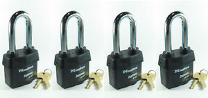 Lock Set By Master 6127kalj lot 4 Keyed Alike Large Weather Sealed Heavy Duty