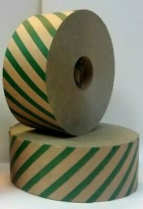 Gummed Tape Non Reinforced Solid Color 25 Cs Green Stripes1pallet 30 00 Cs