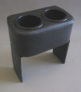 Cadillac Allante Upholstered Custom Black Dual Drink Cup Holder 1987 1992