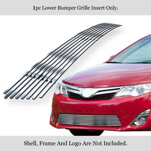 Fits 2012 2014 Toyota Camry Bumper Stainless Chrome 8x6 Billet Grille Insert