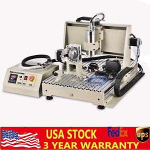 Usb 6040 Cnc Router 4 Axis Engraving Machine Cutting Drill Woodworking 1500w Vfd