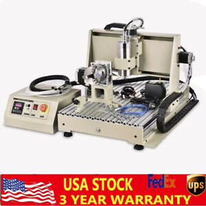 Usb 4axis Cnc Router 6040 Engraving Machine Milling Drill Woodworking 1500w Ups