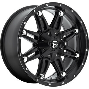 4 20x9 Black Fuel Hostage 6x135 6x5 5 12 Rims Terra Grappler G2 Tires