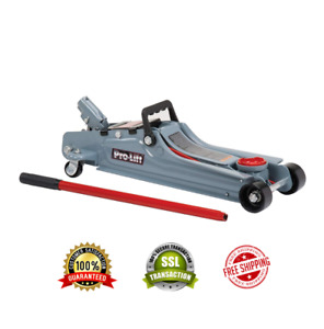 Low Profile Floor Jack 2 Ton Capacity Grey By Pro Lift