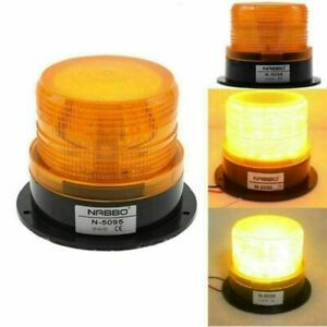Led Warning Light Emergency 12 24v Flashing Beacon Amber Strobe Car Vehicle Auto