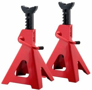 Set Of 2 12 Ton Car Jack Stands Adjustable Height Auto Body Shop Safety Tool