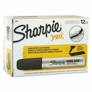 Sharpie Chisel Tip Pro Permanent Markers King Size Black 24 count