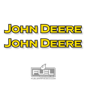 John Deere Premium Vinyl Decal Sticker 2 Pack Farming Equipment Decal