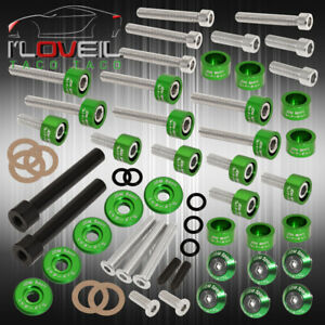 D series Acura Cam Cap cup header m8 Fender Race valve Cover Washer bolt Green