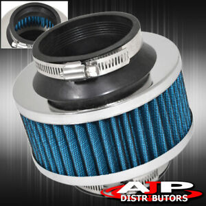 Universal 76mm Turbo Cold Air Intake Valve Bypass Filter Sport Induction Blue