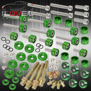 B series Acura Cam Cap cup header m6 Fender Race valve Cover Washer bolt Green