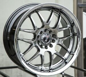 20x9 Xxr 526 5x114 3 120 13 Chromium Black silver Chrome Lip Wheels set 4