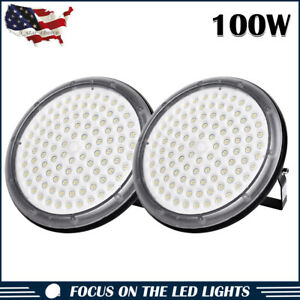 2 X 100w Ufo High Power Led High Bay Light Warehouse Industry Factory Shop Lamp