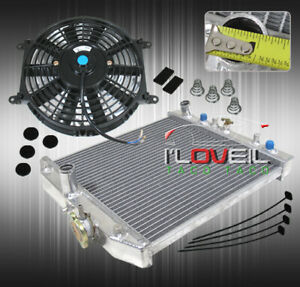For 96 00 Civic Eg Em Hb 2 3 4 Dr At Auto Automatic Aluminum Radiator 12 Fan