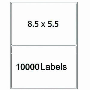 10000 Half Sheet Shipping Labels 8 5x5 5 Self Adhesive Round Corner Laser Inkjet